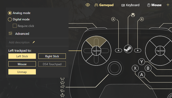 How to configure Steam controller without Big Picture