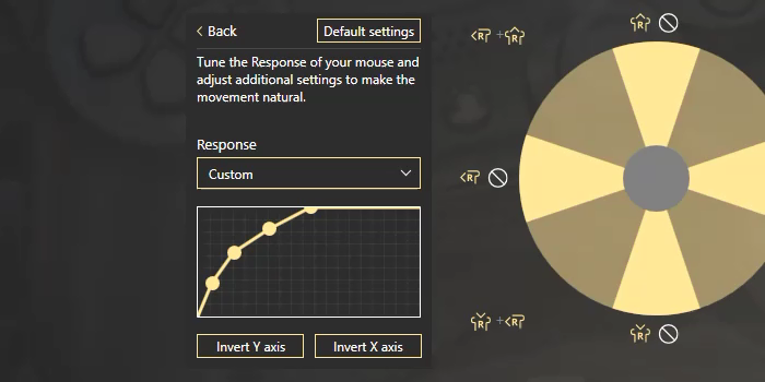How to tune a virtual stick on mouse with reWASD