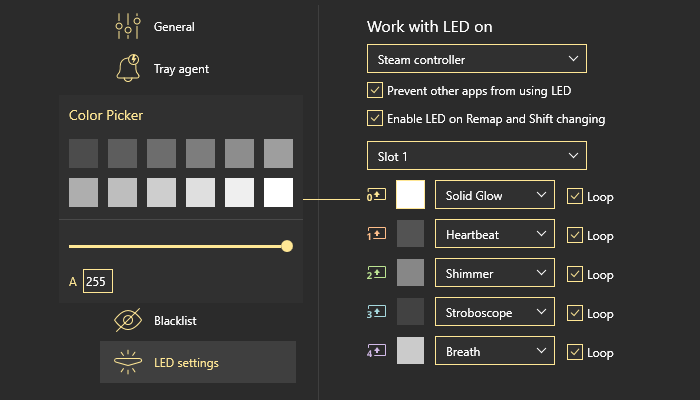 All the basics about LED settings in reWASD setup LED PS4 controller