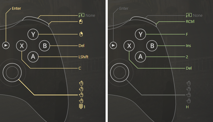 How can controller to keyboard mapper multiply gamepad buttons