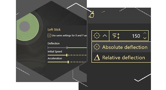 Tune the Sticks of a Virtual Controller