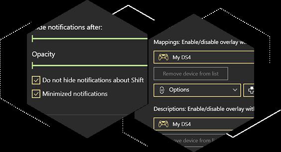 Desktop Overlay novelties and improvements