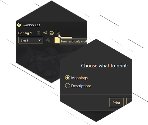 Print Descriptions from your config, use Read-only mode, and minor improvements